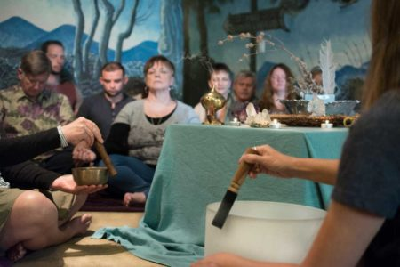 psychics in los angeles participating in a healing ritual