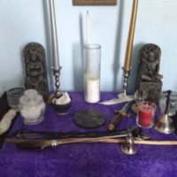 wiccan altar construction example