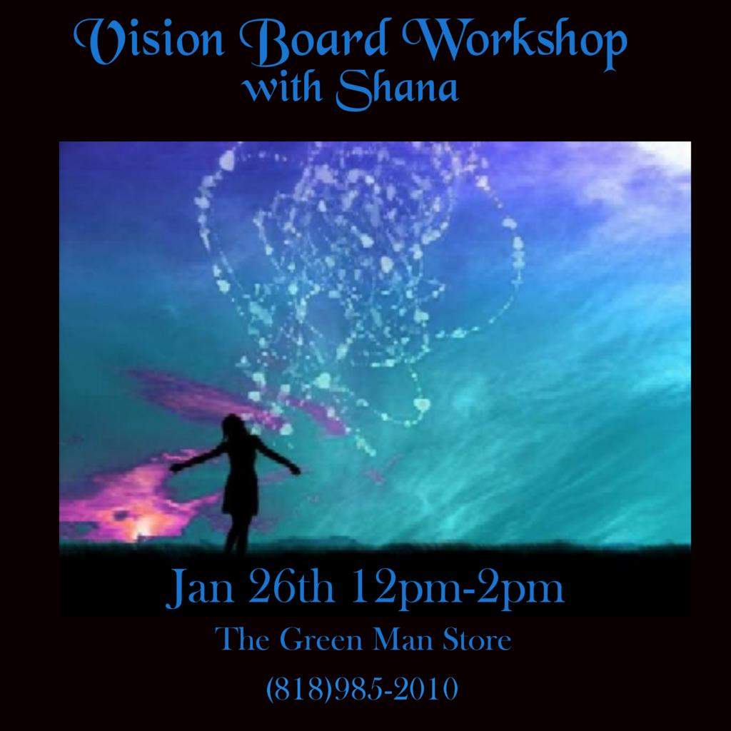 Vision Board Workshop with Shana flyer