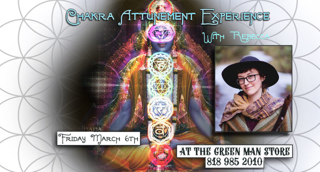 Chakra Attunement Experience with Rebecca flyer